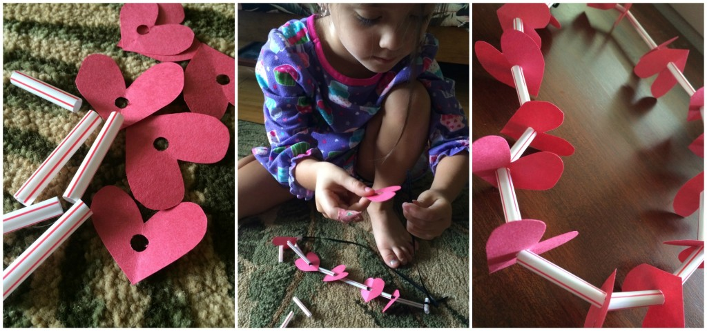 DIY Valentine's Necklace Craft for kids