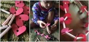 DIY Valentine's Necklace Craft for kids
