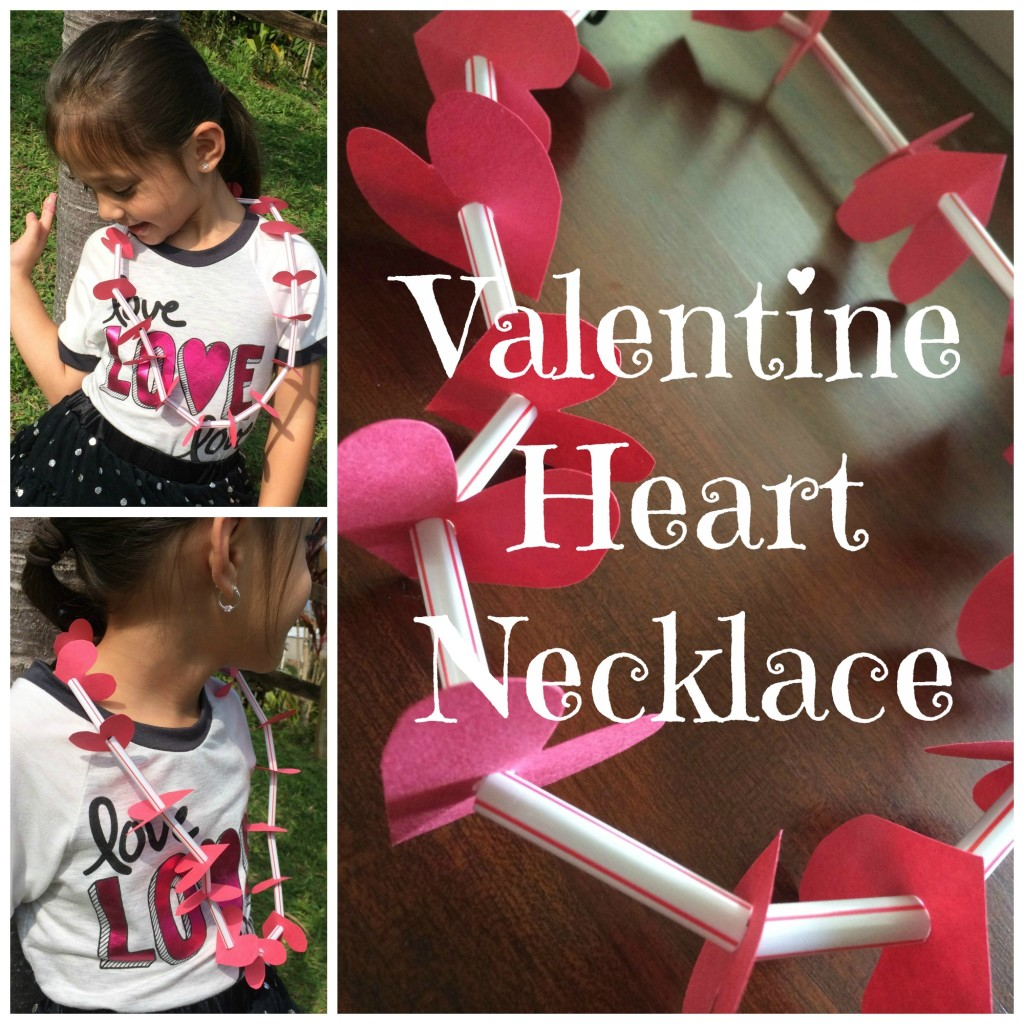 Preschool Craft Valentine's Heart Necklace