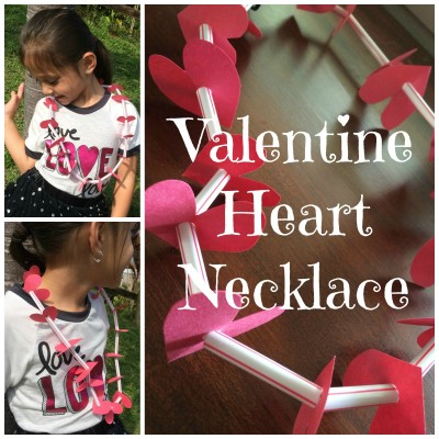 DIY Valentine's Day Heart Necklace