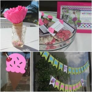 Ice Cream Birthday Party decor