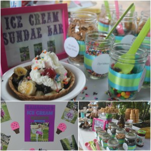 Ice Cream Birthday Party Sundae bar