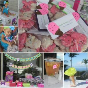 Ice Cream Birthday Party Favors ideas