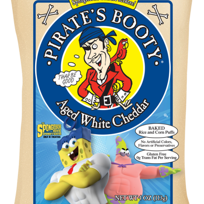 SpongeBob-branded Pirate's Booty Rice & Corn Puffs Review + Giveaway