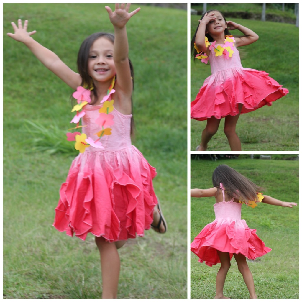 Girls Ombre Twirl Dress