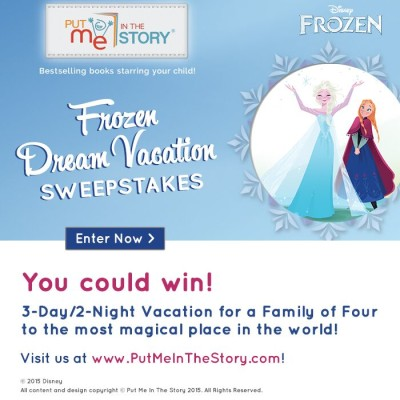A Frozen Dream Vacation Sweepstakes: You could win a trip to Orlando!
