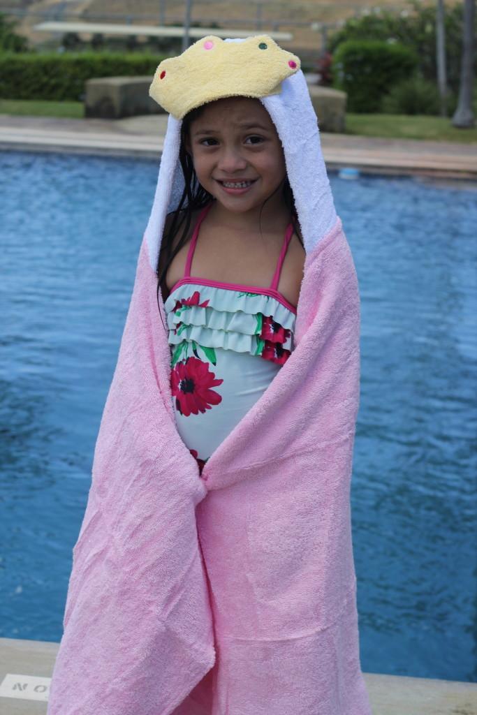 hooded princess towel