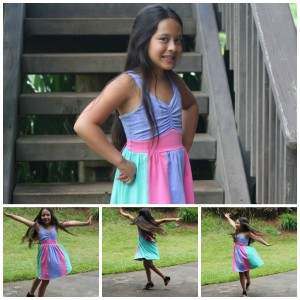 pastel colorblock girls dress FabKids