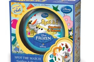 Disney Frozen Spot It! Numbers & Shapes – Great Game for Young Kids