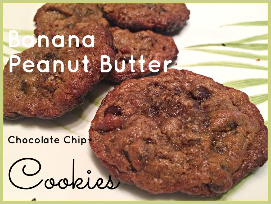 Flourless Banana Peanut Butter Chocolate Chip Cookies