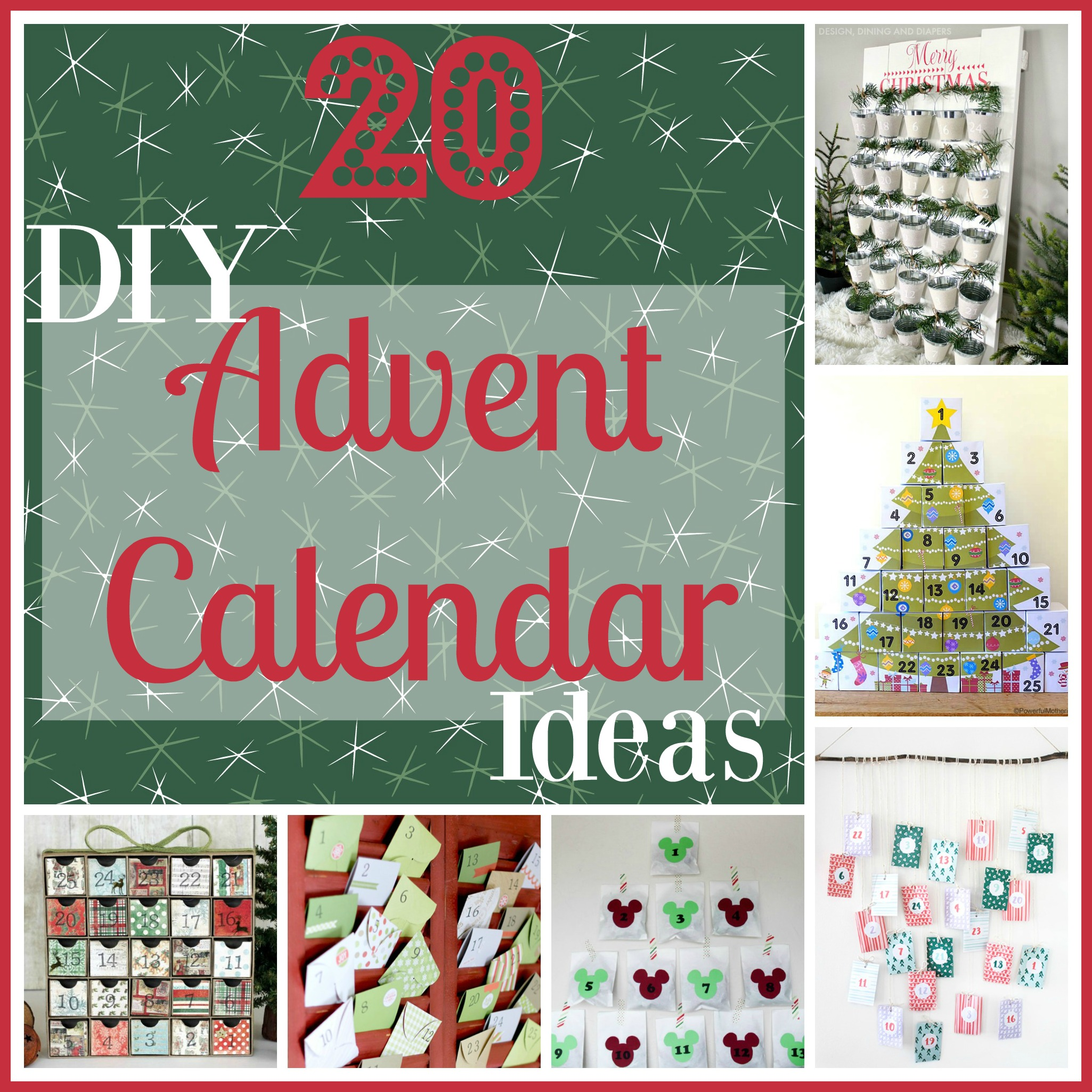 20 diy christmas advent calendar ideas livin 39 the mommy life for Diy christmas advent calendar ideas