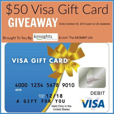 Giveaway: $50 Visa Gift Card from Kinsights
