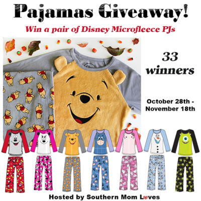 Disney Microfleece Pajama Giveaway