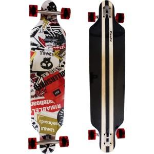 rimable longboard skate board