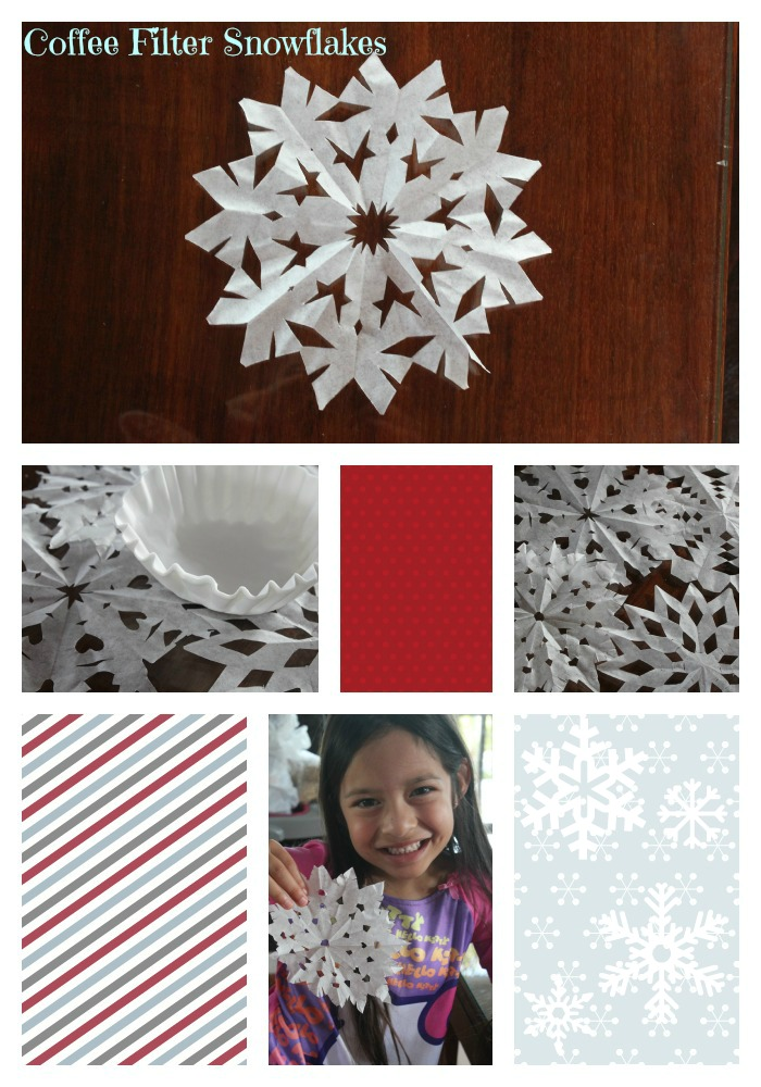 Coffee Filter Snowflake Craft for Kids
