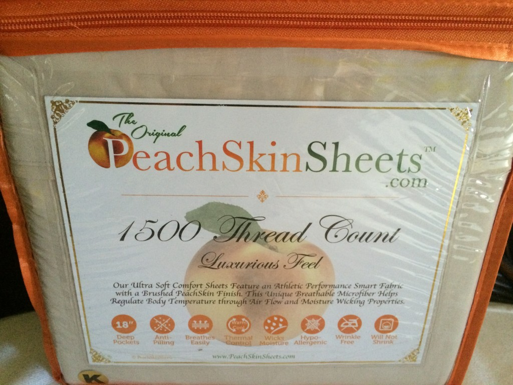 peachskin sheets ivory