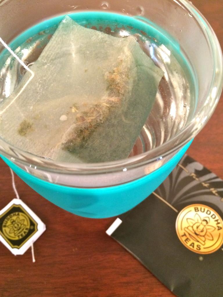 genmaicha Tea in JOCO Glass cup