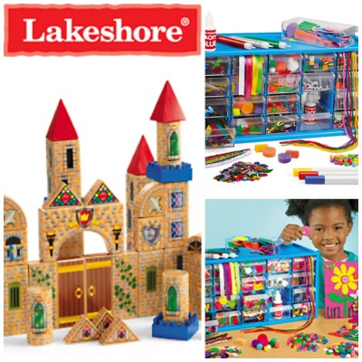 Castle Blocks & Art Supply Center from Lakeshore + Giveaway