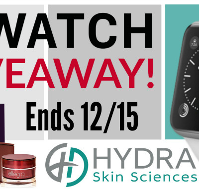 #3 Ahead of Time – Apple Watch and Hydra Skin Sciences Giveaway