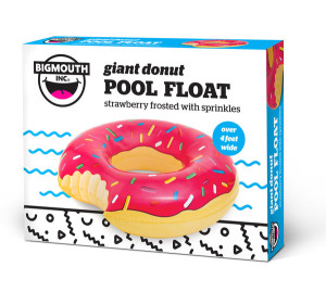 giant donut pool float in box