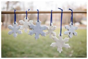 glitter salt dough ornaments