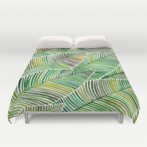 tropical green duvet cover