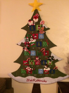 christmas tree large advent calendar
