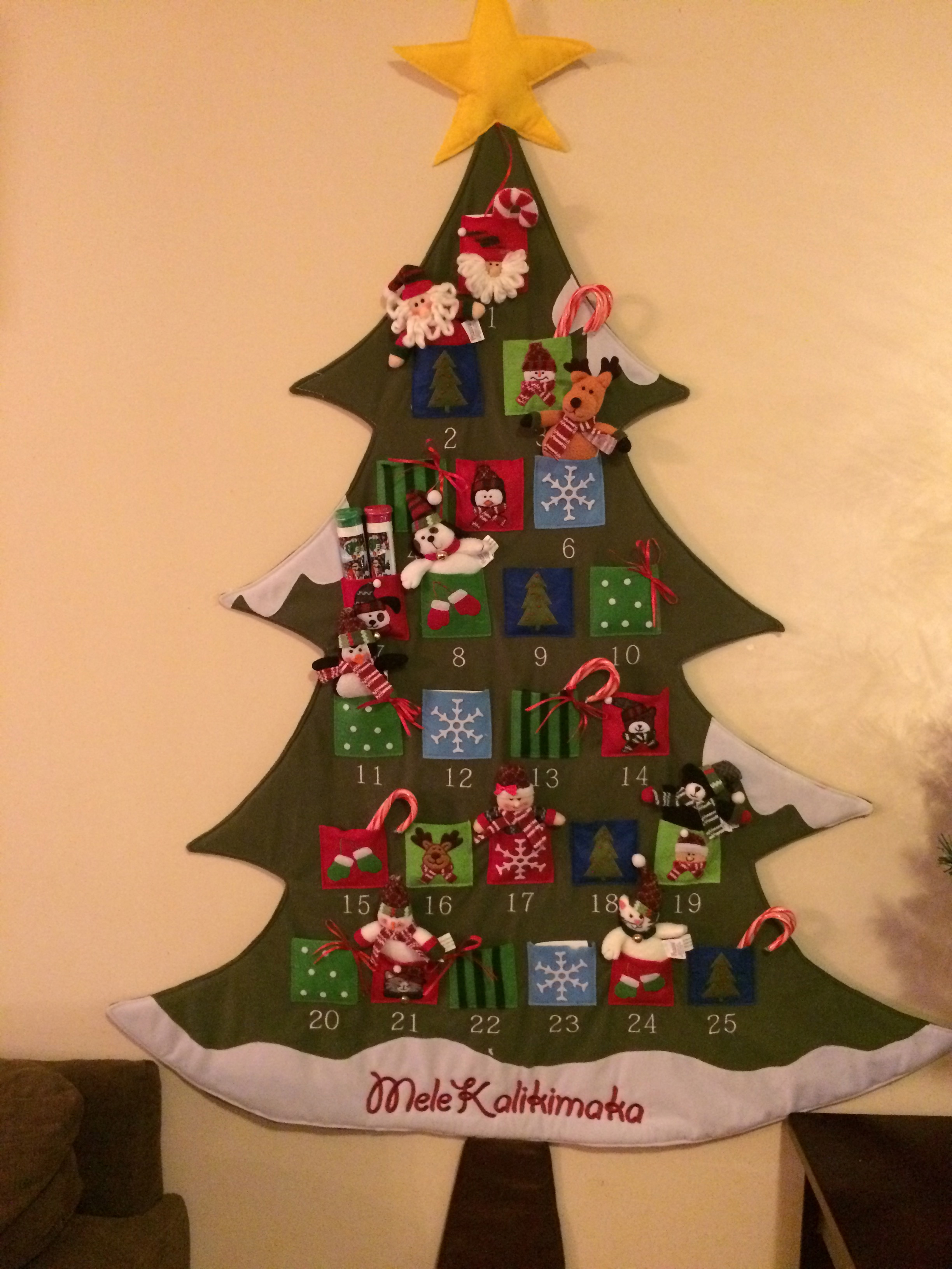 christmas tree large advent calendar