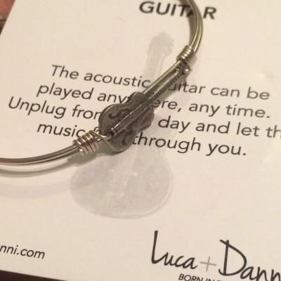 Guitar Bangle Bracelet from Luca + Danni