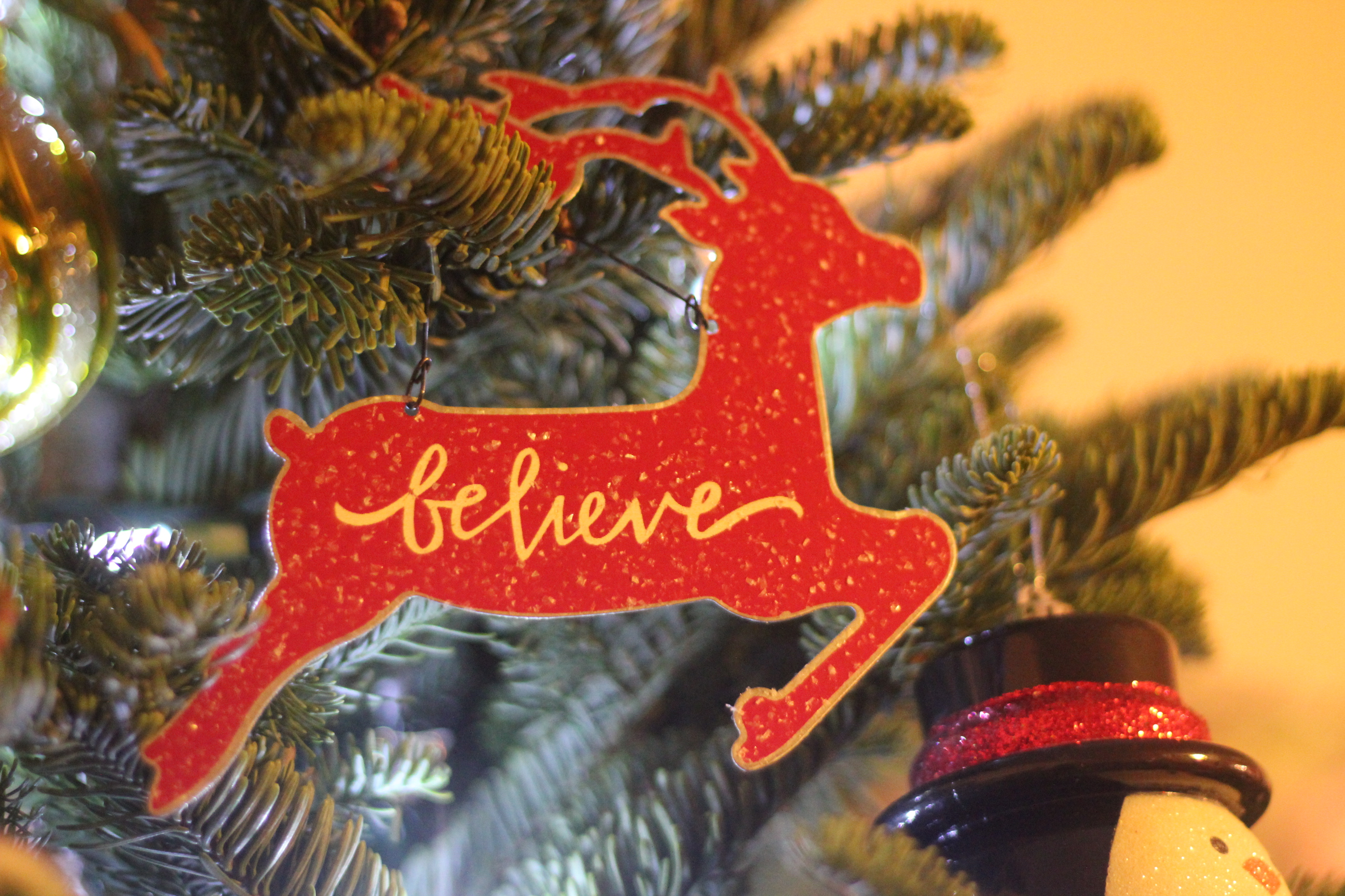 believe reindeer ornament disclosure - Kohls Christmas Decorations