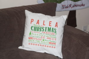 personalized christmas rules pillow