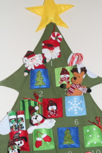 christmas tree advent calendar for kids
