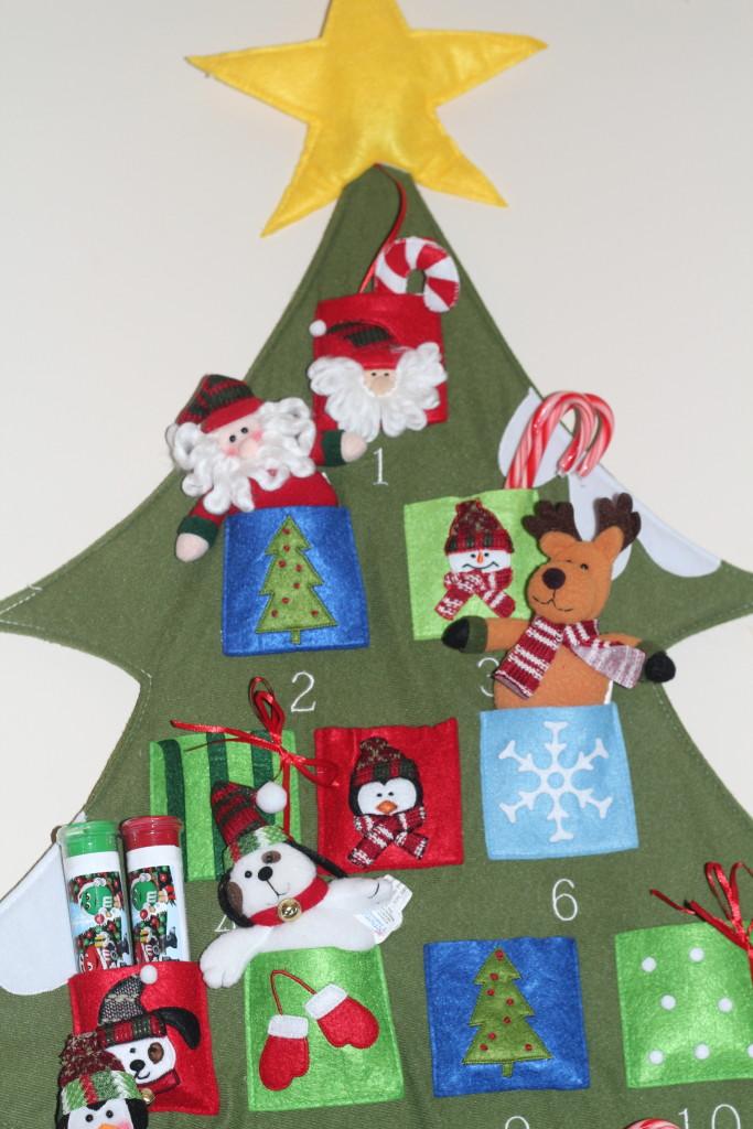 christmas tree advent calendar for kids