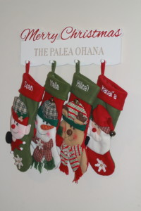personalized christmas stockings and stocking hanger