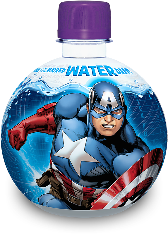 captain america aquaball flavored water drink