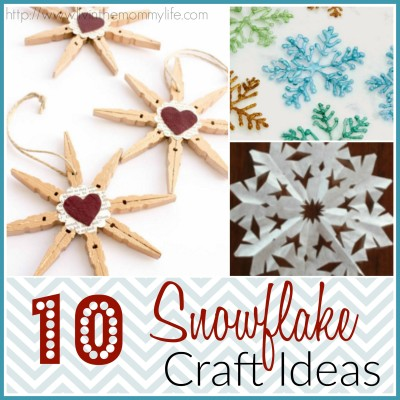 10 Winter Snowflake Crafts