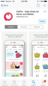 patpat shopping app for moms