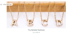 patpat deals alphabet necklace