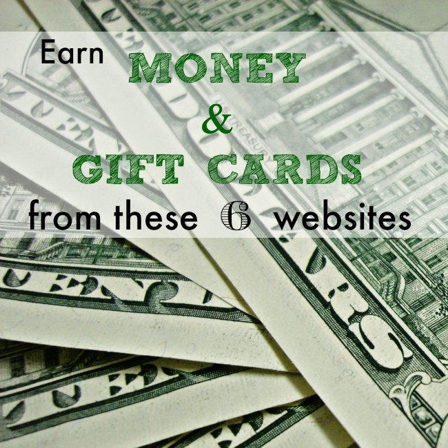 earn money and gift cards from these websites