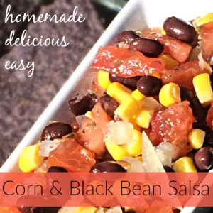 easy homemade corn black bean salsa recipe