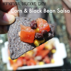 homemade easy corn and black bean salsa