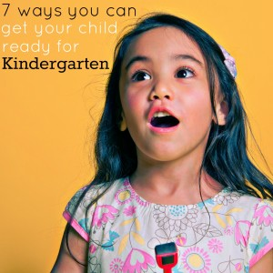 tips to get your child ready for kindergarten