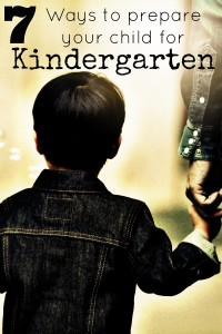 ways to prepare your child for kindergarten