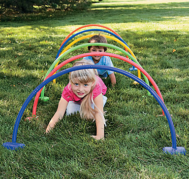crawl through arches obstacle course ideas