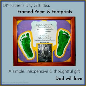 diy father's day gift idea footprints and poem