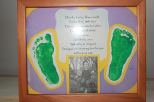footprints father's day poem