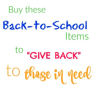 Back-to-School Items that GIVE BACK to those in need