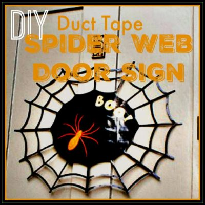 DIY Duct Tape Spider Web Door Sign