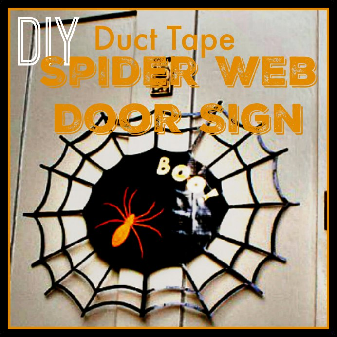diy-duct-tape-spider-web-halloween
