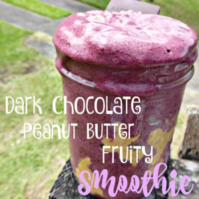 Dark Chocolate Peanut Butter Fruity Smoothie